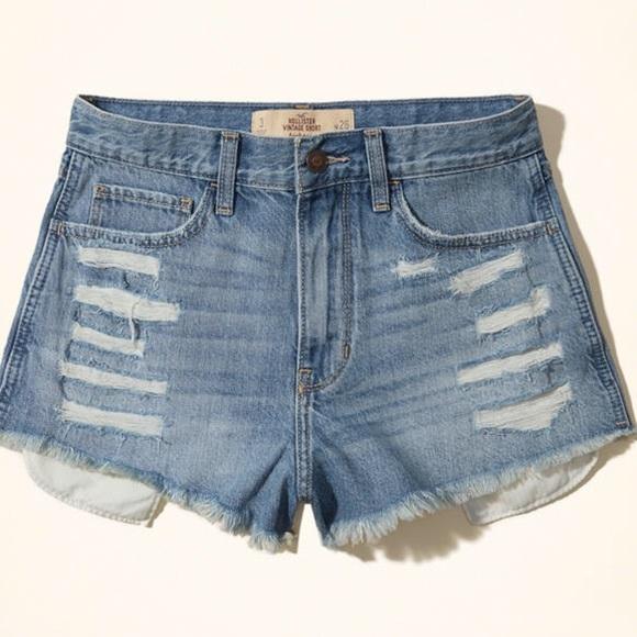 Hollister Pants - Hollister vintage high rise shorts